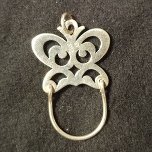 James Avery Jewelry - James Avery Silver Butterfly Charm Hoop Pendant